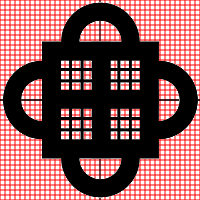 Abusua Pa Adinkra Symbol on Grid