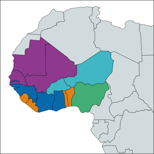 Interactive ECOWAS Map
