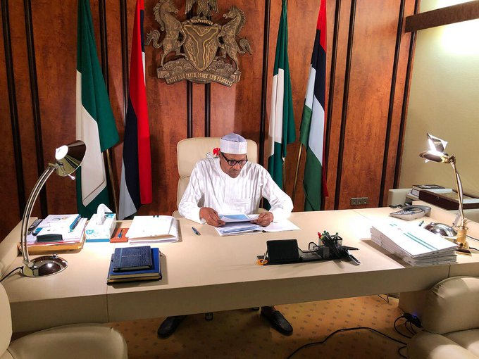 Buhari in the Office