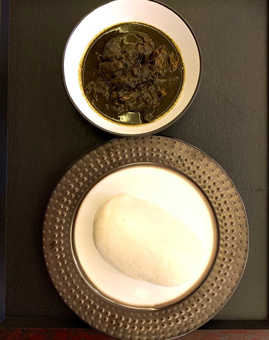 Banga Soup and Pounded Yam